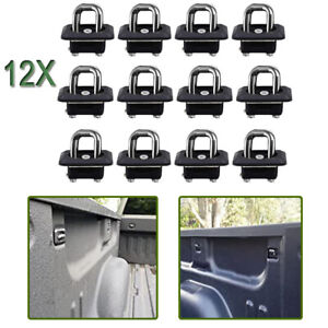 12pcs Truck Bed Tie Down Anchors Side Wall Retractable Fit For Silverado Sierra