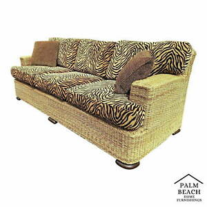 Lexington Henry Link Hand Crafted Woven Raffia Rope Sofa
