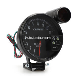 Universal 5 Inch Jdm Sport Black 11k Prm Tachometer 7 Color Gauge Shift Light