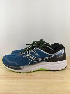 Saucony Men s Omni Iso 2 S20511 1 Black Blue Running Shoes Lace Up Size 11