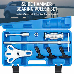 Omt 8pc Rear Axle Bearing Seal Removal Tool Kit Slide Hammer Set With Adapters