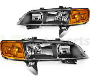 Headlights Assembly For 1994 1997 Honda Accord Clear Halo Front Left Right Sides
