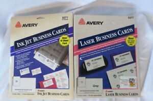 Avery Laser Business Cards 5377 Gray Ink Jet Business Cards White 8371