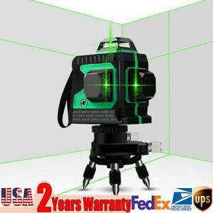 12 Lines 3d Self Leveling Cross Line Laser Rotary Laser Level Green Measure Tool