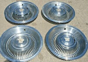 1963 1964 Nice Used Cadillac Hub Caps 15 Set Of 4 Wheel Cover Hubcaps