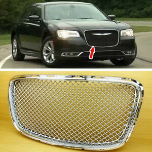 Chrome Bentley Look Front Grille Grill Cover Insert For Chrysler 300 300c 300s