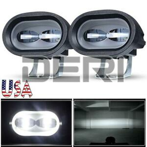 2x 20w Led Work Light Bar Pods Spot Driving Offroad Lamp Atv Truck Motorcycle Us