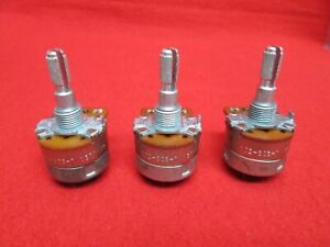 3 Pcs Cts Type Wf 4k Ohm Potentiometers With Switch Linear Pot Vintage 5 Nos