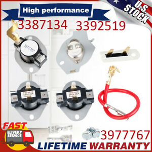 Dryer Heating Element Thermostat Fuse Kit For Whirlpool Roper Kenmore 3977393 Us