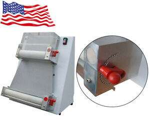 Commercial Electric Pizza Bread Press Dough Roller Sheeter Making Machine 370w
