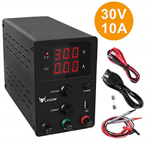 Flycow Dc Power Supply Variable Adjustable 30v 10a Switching Dc Regulated Power