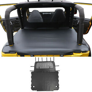 1pc Car Rear Trunk Soft Top Isolation Leather Cover For Jeep Wrangler Tj 1997 06