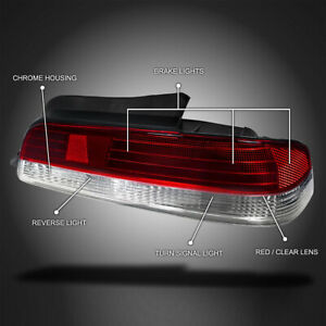 For 1997 2001 Honda Prelude Red clear Tail Lights Brake Lamps Right