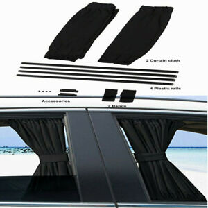 2 car Sun Shade Side Window Curtain Auto Foldable Uv Protection Accessories Kit