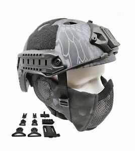 Tactical Airsoft Fast Helmet PJ Type and Metal Mesh Guard Protect Ear TYP $69.45