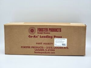 Forster CO AX Single Stage Reloading Press 028271 Rev B5 Brand New $498.88