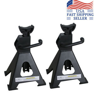 2 Ton Jack Stands Trailer Truck Car Tire Change Repair Lift Tool Adjustable New