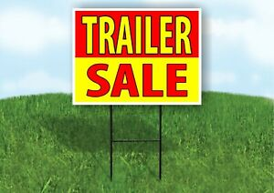 Trailer Sale Red Yellow Plastic Yard Sign Road Sign With Stand