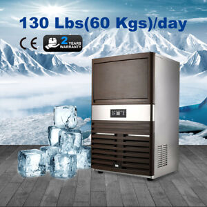 Ice Machine Commercial Ice Maker 130lbs 24h 300w Undercounter Ice Cube Machine