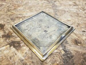 1911 14 Ford Model T Era Brass Cowl Light Door With Beveled Glass 4 1 8 X 4 1 8