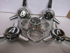 4 Spinners 3 Bars Center Caps For Appliance Wire Wheels Appliance Logo Set Scr