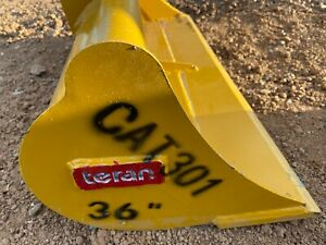 Cat 301 36 Excavator Grading Ditching Cleaning Caterpillar Bucket Free Shipping