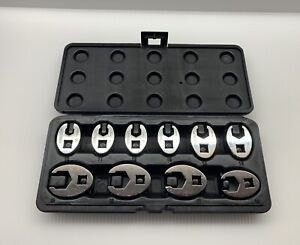Napa Evercraft 10 Piece Flare Nut Crowfoot Socket Wrench Set Mint Condition