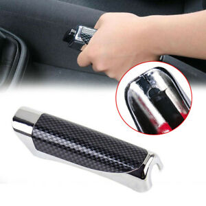 Carbon Fiber Style Car Auto Hand Brake Protector Cover Universal Car Accessories