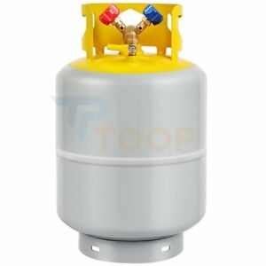 50lb Refrigerant Recovery Tank 400 Psi R410a R134a R22 Y shaped Valve