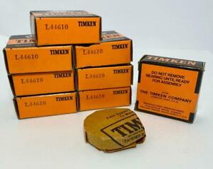 Timken Tapered Roller Bearings L44610 Lot Of 8 New