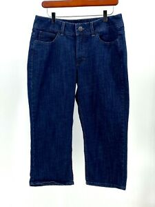 Lee Riders by Lee 12M Capri Denim Jeans 34x21 EUC S680 I3 $10.99