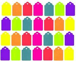 100 Blank Merchandise Price Tags Retail String Coupon Label 1 25 X 75