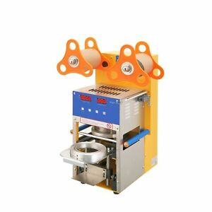 Cup Sealing Machine For Bubble Tea Automatic Plastic Cup Sealer 400 600cups h