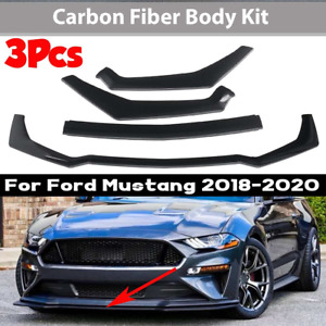 Carbon Fiber Front Lip For Ford Mustang 2018 2020 Gt Style Front Bumper Body Kit