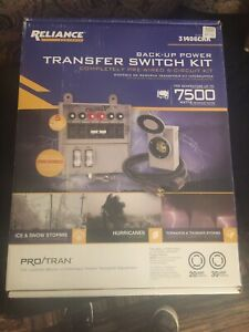 Reliance 31406crk Back up Power Transfer Switch Kit For Generators Up To 7500 W