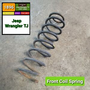 Front Coil Spring For 1997 2002 Jeep Wrangler Tj Oem Free Shipping