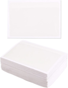 Juvale 100 Pack Self Adhesive Label Holder Clear Plastic Pockets Top Open For 3