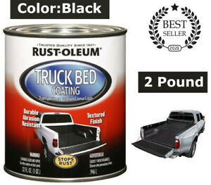 Black Truck Bed Coating Brush Or Roll On Liner Trailer Paint 32 Ounce Rust Oleum