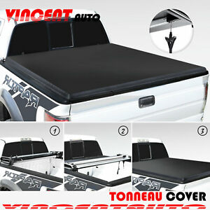 5 8 Ft 4th fold Extra Short Truck For 19 21 Silverado gmc Soft Tonneau Cover