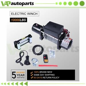 10000lbs 12v Electric Winch Steel Cable Rope Atv Utv Truck Off Road Steel Cable
