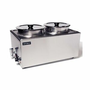 Sybo Zck165bt 4 Commercial Grade Stainless Steel Bain Marie Buffet Food Warme