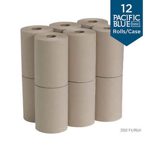 Georgia pacific Pacific Blue Basic Recycled Paper Towel Roll 26401 350 Feet