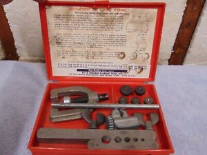 Vintage New Britain Hand Tools No Ft 12 Double Flaring Tool Kit 8 Piece