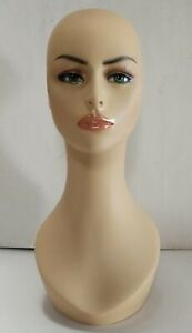 Less Than Perfect 318 c Female Mannequin Head Display Form With Pierced Ears