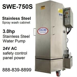 Spray Wash Cabinet Stainless Steel Parts Washer Cabinet Swe 750s 1 250lbs Load