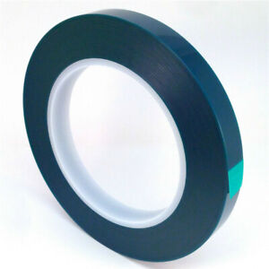 1mil High Temp Green Polyester Masking Tape For Powder Coating 1 2 X 72yds