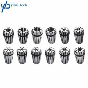 Er16 Spring Collet Set For Cnc Milling Lathe Tool Engraving Machine 12pcs