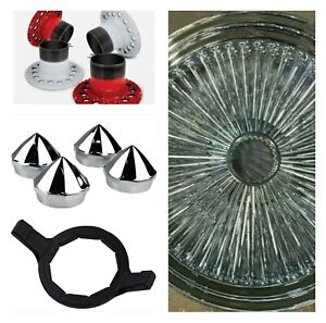 4 New 20x8 Wire Wheel Complete Set With Installation Kit