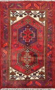 Vintage Tribal Oriental Wool Area Rug Hand Knotted Traditional Foyer Carpet 3x5