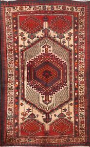 3x5 Semi Antique Traditional Geometric Oriental Foyer Area Rug Wool Hand Knotted